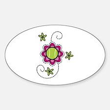Tennis Flower Decal