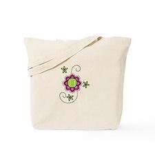 Tennis Flower Tote Bag