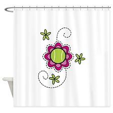 Tennis Flower Shower Curtain