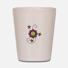 Tennis Flower Shot Glass