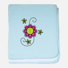 Tennis Flower baby blanket