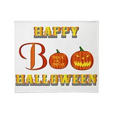 Halloween - Boo Pumpkin Throw Blanket