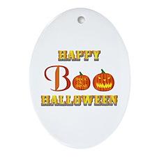 Halloween - Boo Pumpkin Ornament (Oval)