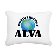 World's Hottest Alva Rectangular Canvas Pillow
