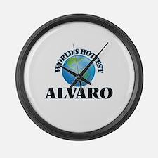 World's Hottest Alvaro Large Wall Clock