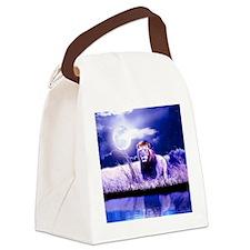 Contemplative Lion Canvas Lunch Bag