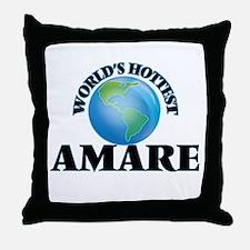 World's Hottest Amare Throw Pillow