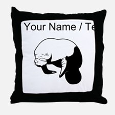 Custom Manatee Throw Pillow