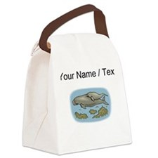 Custom Manatee And Calf Canvas Lunch Bag