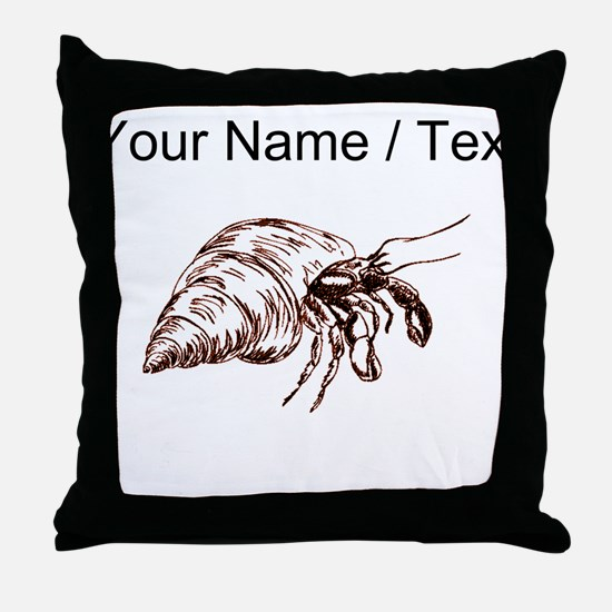 Custom Hermit Crab Throw Pillow