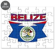 Belize flag ribbon Puzzle
