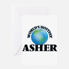 World's Hottest Asher Greeting Cards