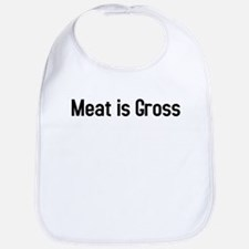 meat is gross Bib