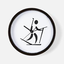Biathlon icon Wall Clock