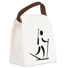 Biathlon icon Canvas Lunch Bag