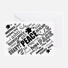 PEACE in different languages Greeting Cards
