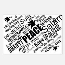 PEACE in different languages Postcards (Package of