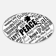 PEACE in different languages Decal