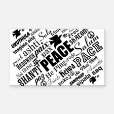 PEACE in different languages Rectangle Car Magnet