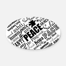 PEACE in different languages Oval Car Magnet