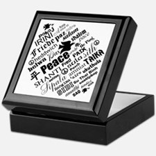 PEACE in different languages Keepsake Box