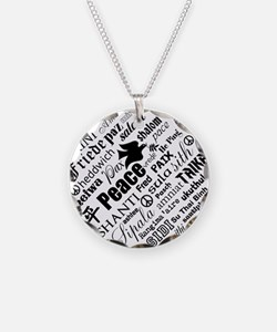 PEACE in different languages Necklace