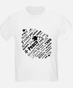 PEACE in different languages T-Shirt