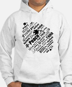 PEACE in different languages Jumper Hoody