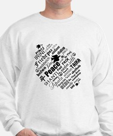 PEACE in different languages Jumper