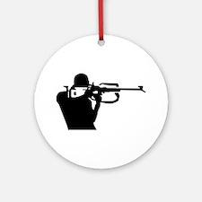 Biathlon shooting Ornament (Round)