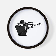 Biathlon shooting Wall Clock