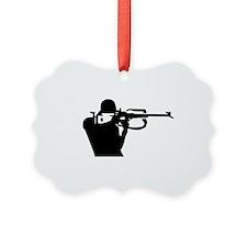 Biathlon shooting Ornament