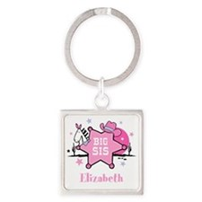 Cowgirl Big Sister Square Keychain