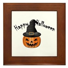 Halloween Pumpkin Framed Tile