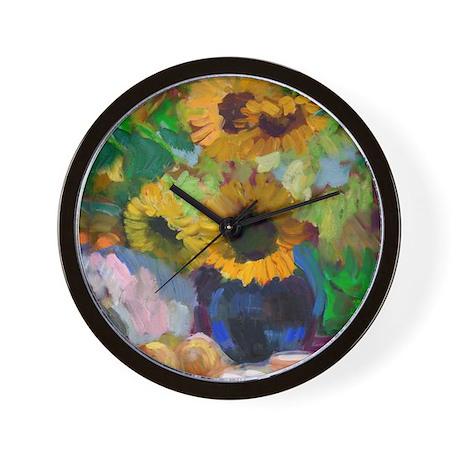 Happy Sunflower Wall Clock