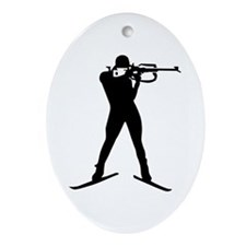 Biathlon sports Ornament (Oval)