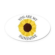 You Are My Sunshine Oval Car Magnet