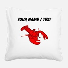 Custom Red Lobster Square Canvas Pillow