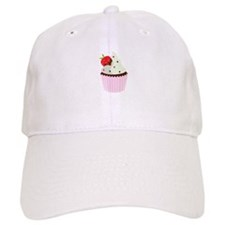Strawberry Cupcake Baseball Baseball Cap