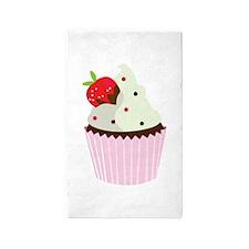 Strawberry Cupcake 3'x5' Area Rug