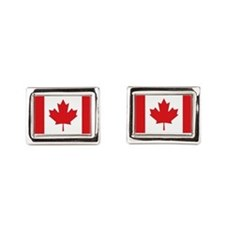 Canada National Flag Rectangular Cufflinks