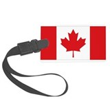 Canadian flag Luggage Tags