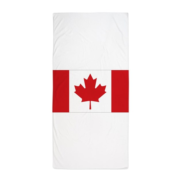 Canada National Flag Beach Towel By Allcountries Flagwear