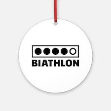 Biathlon target Ornament (Round)