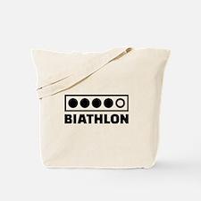 Biathlon target Tote Bag
