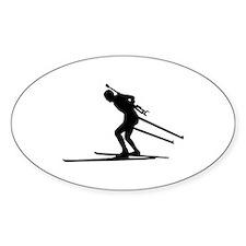 Biathlon skiing Decal