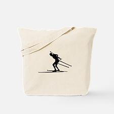 Biathlon skiing Tote Bag