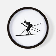 Biathlon skiing Wall Clock