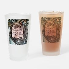 WILL RAP FOR FREE Drinking Glass
