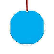 Azure Blue Solid Color Ornament (Round)